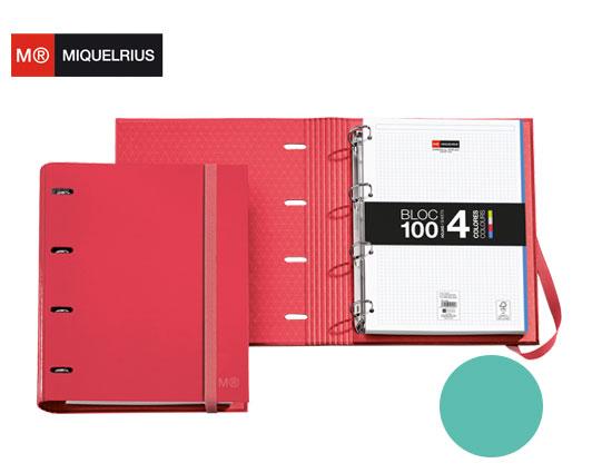 MIQUELRIUS ΝΤΟΣΙΕ Α4 4 ΚΡΙΚΟΙ ΧΑΡΤΙΝΟ 35mm  ΜΕ ΛΑΣΤΙΧΟ & ΜΠΛΟΚ MR NORDIC COL. LAGOON
