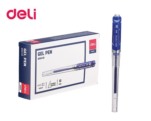 DELI ΣΤΥΛΟ GEL ΛΑΒΗ GRIP 0.5mm  ΜΠΛΕ 12Τ.