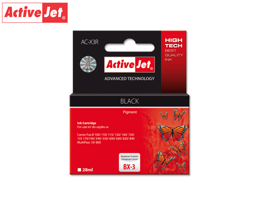 ACJ INK ΓΙΑ FAX CANON #BX-3 BLACK AC-X3R 28ml (Α)