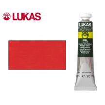 LUKAS ΤΕΜΠΕΡΑ 20ml CINNABAR RED LIGHT 6Σ.