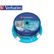 VERBATIM CD-R 700MB 52X 25Τ. PRINTABLE CB 43439
