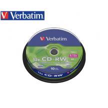 VERBATIM CD-RW 700MB 8-12X 10Τ. CB 43480
