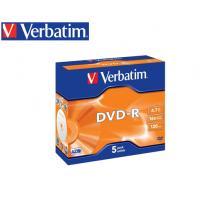 VERBATIM DVD-R 4.7GB 16X 5Τ. JEWEL 43519
