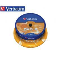 VERBATIM DVD-R 4.7GB 16X 25Τ. CB 43522