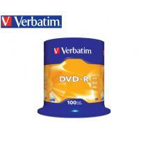 VERBATIM DVD-R 4.7GB 16X 100Τ. CB SILVER 43539