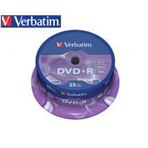 VERBATIM DVD+R 4.7GB 16X 25Τ. CB 43500