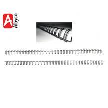 ALBYCO ΣΠΙΡΑΛ ΒΙΒΛΙΟΔΕΣΙΑΣ ΜΕΤΑΛΛΙΚΟ 6.4mm ΜΑΥΡΟ 100Τ.
