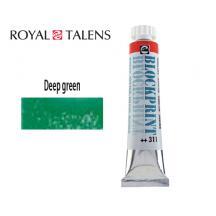 TALENS ΜΕΛΑΝΗ ΤΥΠΩΜΑΤΟΣ 20ml BLOCKPRINT GREEN DEEP 3Σ.