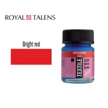 TALENS ΧΡΩΜΑ ΓΙΑ ΥΦΑΣΜΑ 16ml AMS DECO RED BRIGHT 3Τ.