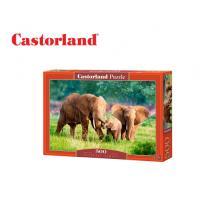 CASTORLAND ΠΑΖΛ 500Τ. 47x33cm ELEPHANT FAMILY