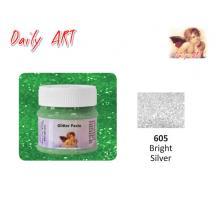 DAILY ART ΠΑΣΤΑ GLITTER 50 ml BRIGHT SILVER