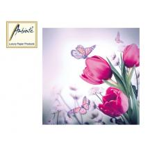 AMB ΧΑΡΤΟΠΕΤΣΕΤΕΣ 33X33cm BUTTERFLY & TULIPS 20Τ.