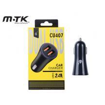 MTK ΦΟΡΤΙΣΤΗΣ ΑΥΤΟΚΙΝΗΤΟΥ USB 2 CU407 ΜΑΥΡΟ