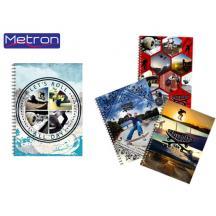 METRON ΤΕΤΡΑΔΙΟ 16x24cm 128Φ. 4 ΘΕΜ.8Τ. SKATE