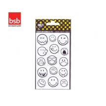 BSB ΑΥΤΟΚΟΛΛΗΤΑ 7.8x12.5cm SMILEY COLOR