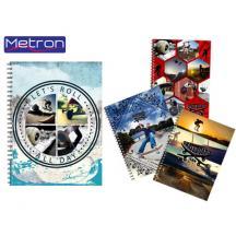 METRON ΤΕΤΡΑΔΙΟ Α4 105Φ. 3 ΘΕΜ. 10Τ. SKATE
