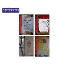 METRON ΤΕΤΡΑΔΙΟ 17x25cm  128Φ. 4Θ. 1ΣΠ. 8Τ. UV PLACES