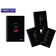 METRON ΤΕΤΡΑΔΙΟ 17x25cm 105Φ. 3 ΘΕΜ. 10Τ. BLACK & RED