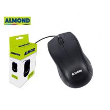 ALMOND MOUSE ΕΝΣΥΡΜΑΤΟ USB ΜΑΥΡΟ