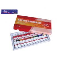 METRON ART ΧΡΩΜΑ ΑΚΡΥΛΙΚΑ 12x12ml ΣΕΤ 12Τ.