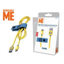 TRIBE ΚΑΛΩΔΙΟ USB MICRO 120cm DESPICABLE ME CARL
