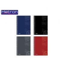 METRON ΤΕΤΡΑΔΙΟ 17x25cm 60Φ. 2Θ. 2ΣΠ. 10Τ. No 1