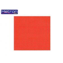 METRON ART ΧΑΡΤΟΝΙ 50x70cm 250gr ΔΙΠΛ.ΟΨ. ΠΟΥΑ ΚΟΚΚΙΝΟ 12Φ.