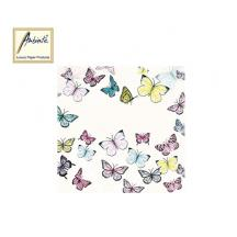 AMBIENTE ΧΑΡΤΟΠΕΤΣΕΤΕΣ 33x33cm BUTTERFLY WHITE  20Τ.