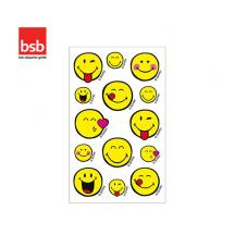 BSB ΑΥΤΟΚΟΛΛΗΤΑ 7,8x12,5cm SMILEY 2 (1 ΦΥΛ.) LICENSED