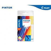 PILOT ΜΑΡΚΑΔΟΡΟΣ PAINT PINTOR MEDIUM ESSENTIAL B/L/R/Y ΣΕΤ 4Τ.