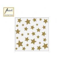 AMBIENTE ΧΑΡΤΟΠΕΤΣΕΤΕΣ ΧΡΙΣΤΟΥΓΕΝΝΙΑΤΙΚΕΣ 33X33cm SWIRLING STARS GOLD 20Τ.