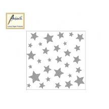 AMBIENTE ΧΑΡΤΟΠΕΤΣΕΤΕΣ ΧΡΙΣΤΟΥΓΕΝΝΙΑΤΙΚΕΣ 33X33cm SWIRLING STARS SILVER 20Τ.
