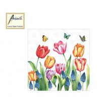 AMBIENTE ΧΑΡΤΟΠΕΤΣΕΤΕΣ 33x33cm TULIPS & MUSCARI 20Τ.