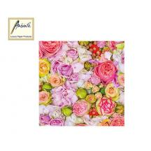 AMBIENTE ΧΑΡΤΟΠΕΤΣΕΤΕΣ 33x33cm BED OF ROSES 20Τ.
