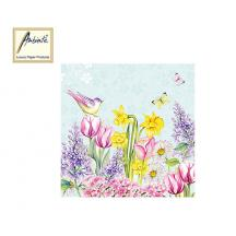 AMBIENTE ΧΑΡΤΟΠΕΤΣΕΤΕΣ 33x33cm BLOOMING GARDEN TURQUOISE 20Τ.