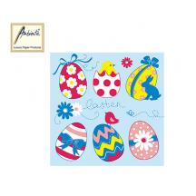 AMBIENTE ΧΑΡΤΟΠΕΤΣΕΤΕΣ 33x33cm EASTER EGGS COLLECTION BLUE 20Τ.