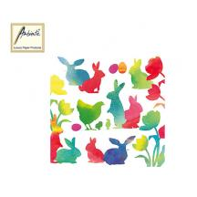 AMBIENTE ΧΑΡΤΟΠΕΤΣΕΤΕΣ 33x33cm EASTER SILHOUETTES RED 20Τ.