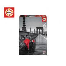 EDUCA ΠΑΖΛ 1000Τ.68x48cm RED UMBRELLA  BROOKLYN BRIDGE1
