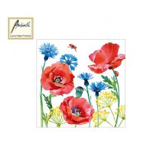 AMBIENTE ΧΑΡΤΟΠΕΤΣΕΤΕΣ 33x33cm CORNFLOWER AND POPPY 20Τ.