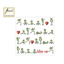 AMBIENTE ΧΑΡΤΟΠΕΤΣΕΤΕΣ 33x33cm KISS ME 20Τ.
