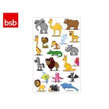 BSB ΑΥΤΟΚΟΛΛΗΤΑ 7,8x12,5cm ΖΩΑΚΙΑ (3 ΦΥΛ.)