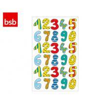 BSB ΑΥΤΟΚΟΛΛΗΤΟ 7,8x12,5cm ΑΡΙΘΜΟΙ ΧΡΩΜΑΤΙΣΤΟΙ (3 ΦΥΛ.)