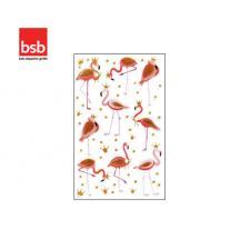 BSB ΑΥΤΟΚΟΛΛΗΤΑ BLISTER 1Φ. 78x125mm GLITTER FLAMINGOS