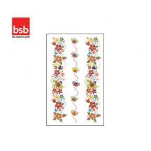 BSB ΑΥΤΟΚΟΛΛΗΤΑ BLISTER 1Φ. 78x125mm GLITTER TATTOO ΛΟΥΛΟΥΔΙΑ