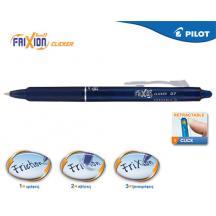 PILOT ΣΤΥΛΟ FRIXION CLICKER 0.7mm ΣΚΟΥΡΟ ΜΠΛΕ 12Τ.