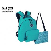 BODYPACK ΤΣΑΝΤΑ ΠΛΑΤΗΣ ΜΕ 2 ΤΣΑΝΤΑΚΙΑ MAKE MY PACK TURQUOISE