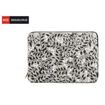 "MIQUELRIUS ΤΣΑΝΤΑ TABLET LAPTOP 13"" 33x24x2.2cm FLORAL ALWAYS BLACK"