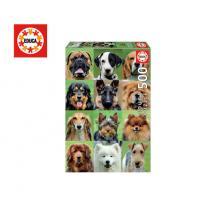 EDUCA ΠΑΖΛ 500Τ. 48x34cm DOGS COLLAGE