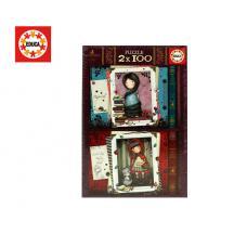 EDUCA ΠΑΖΛ 2x100Τ. RAPUNZEL & LITTLE RED RIDING HOOD