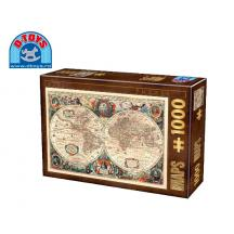 D-TOYS ΠΑΖΛ 1000Τ 68x47cm ANTIQUE WORLD MAP